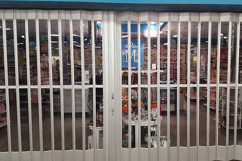 Side Folding Full Enclosure Security Grilles 677