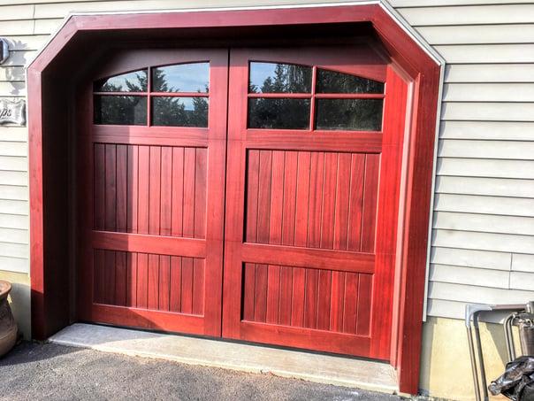 Stain Grade Wood Doors by Overhead Door Company of Central Jersey.