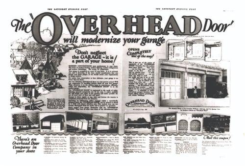 Old Overhead Door Ad