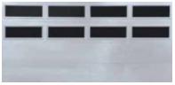 Thermacore Garage Door Windows - Double row of windows