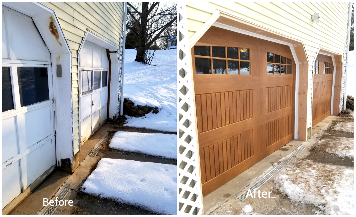 Visit Our New Showroom & Parts Counter; Overhead Door Co. of Central Jersey garage door service; Residential garage door photo; Before and After