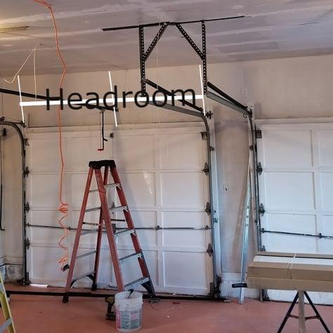 What is garage door headroom; Garage Door Headroom ; Residential Garage Door; Garage Door Installation, repair and service by Overhead Door Company of Central Jersey