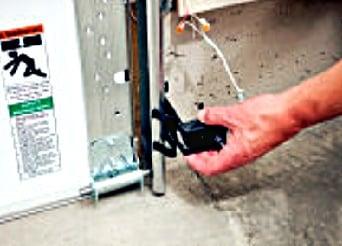 attaching garage door photo eyes