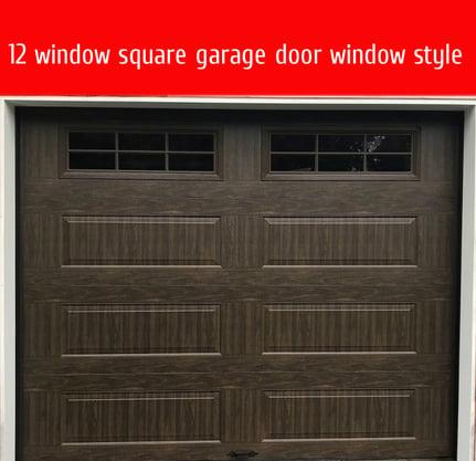 how to pick garage door windows; 12 window square garage door window style