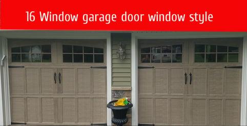 how to pick garage door windows; Arch Top - For Vertical Slat Panel; 16 Window garage door window style