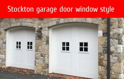 how to pick garage door windows; Stockton garage door window style