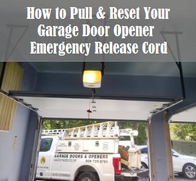 Garage Door Resetting the Release Cord