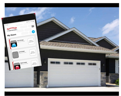 OHD Anywhere - Controlling the garage door from your smart phone