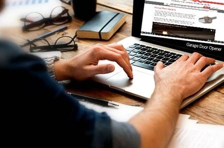 internet search; search garage door operators thorugh the internet