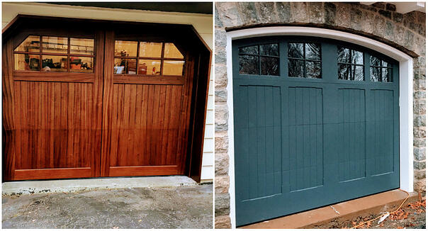 STAIN-GRADE VS PAINT GRADE CARRIAGE HOUSE DOORS - WHAT IS THE DIFFERENCE?