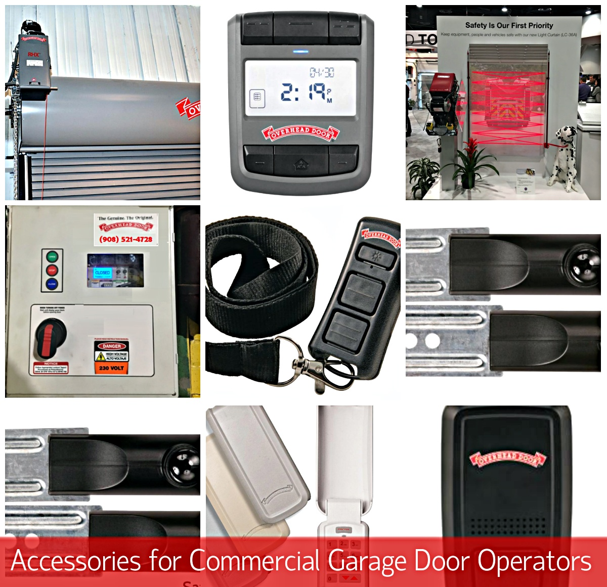 Accessories for Commercial Garage Door Operators