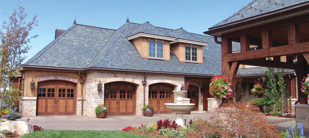 House With Carriage House Doors