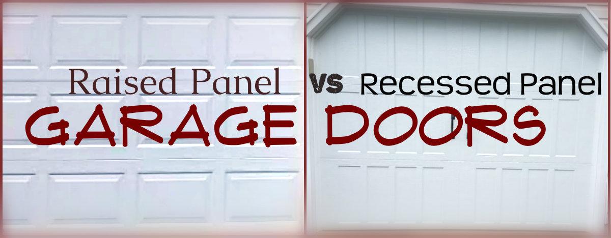 Raised Panel vs Recessed Panel Garage Doors